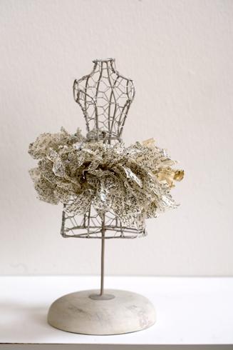 Histoire d'amour - accessoire parue & collier, tissage papier de soie
