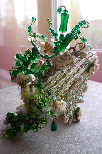 bracelet vert sculpture (2)